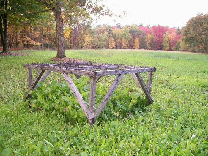 Example of an exclosure in a small food plot