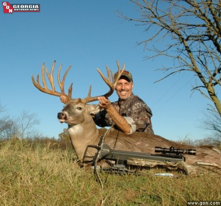 Bob Coombs shot this big whitetail with a crossbow.